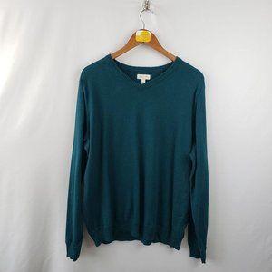 Sonoma V Neck Sweater Womens Sz XL Cotton Long Sle